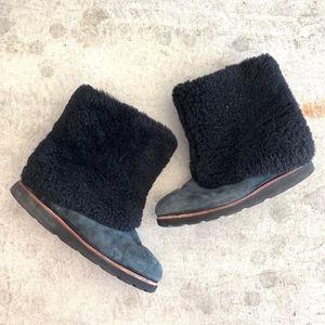 UGG Australia 'Maylin' Suede Shearling Cuff Boots
